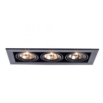 Встраиваемый светильник Arte Lamp Instyle Cardani Medio A5930PL-3BK, 3xG53AR111x50W, черный, металл - миниатюра 1