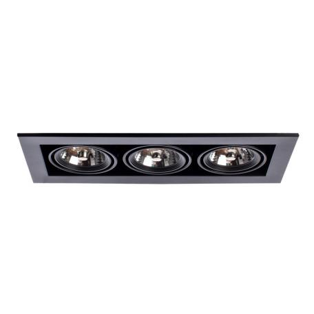 Встраиваемый светильник Arte Lamp Instyle Cardani Medio A5930PL-3BK, 3xG53AR111x50W, черный, металл