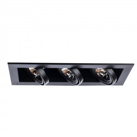 Встраиваемый светильник Arte Lamp Instyle Cardani Medio A5930PL-3BK, 3xG53AR111x50W, черный, металл - миниатюра 3