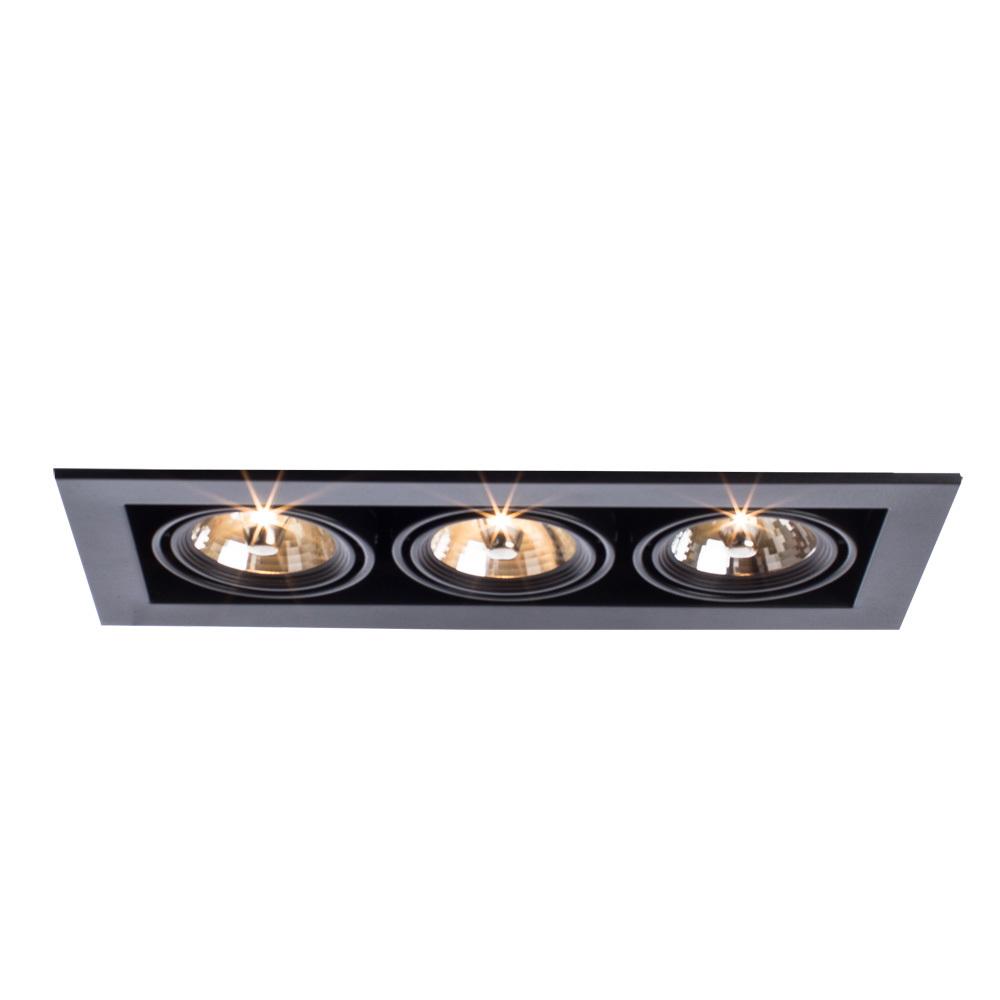 Встраиваемый светильник Arte Lamp Instyle Cardani Medio A5930PL-3BK, 3xG53AR111x50W, черный, металл - фото 4