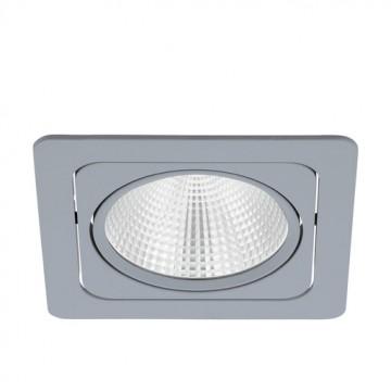 Встраиваемый светодиодный светильник Eglo Vascello G 61663, LED 19W 2700K 2900lm CRI>80, серебро, металл