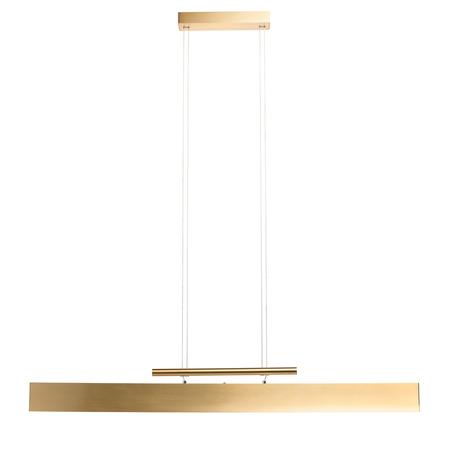 Подвесной светодиодный светильник De Markt Ральф 7 675013803, LED 42W 3000K 3360lm, матовое золото, металл