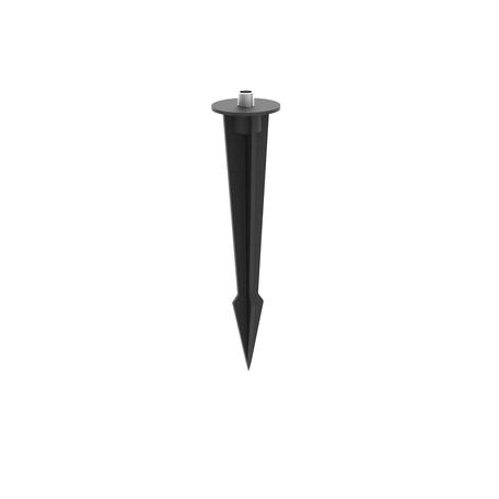 Колышек для монтажа в грунт Mantra Flame TU0492, черный, пластик