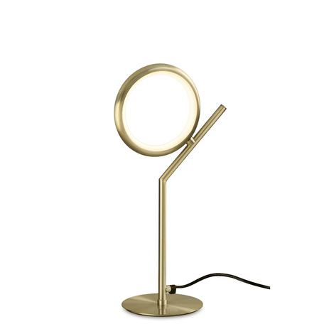 Настольная лампа Mantra Olimpia 6586, матовое золото, белый, металл, пластик