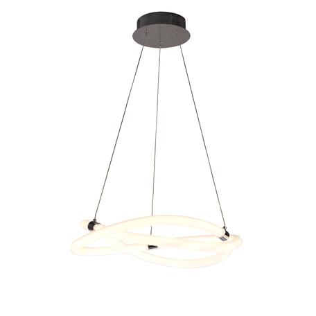 Подвесной светильник Mantra Line 6608, хром, белый, металл, пластик