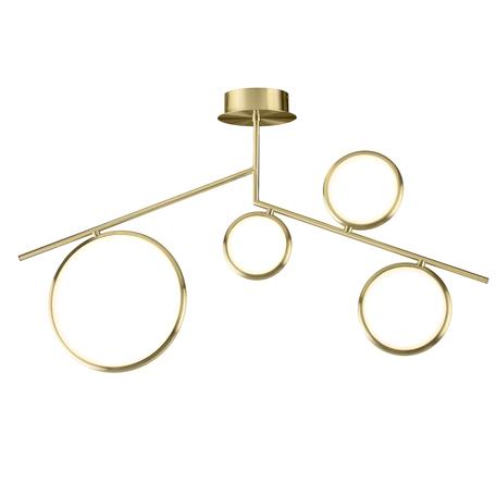 Потолочная люстра Mantra Olimpia 6580, матовое золото, белый, металл, пластик