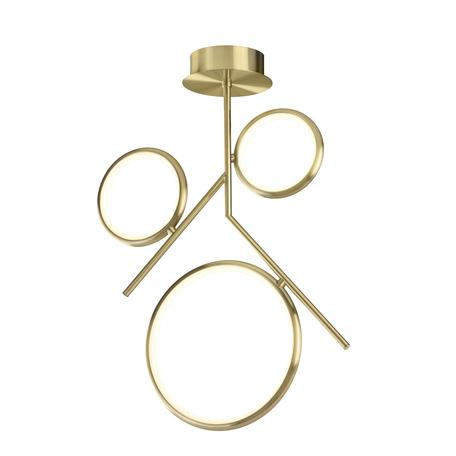 Потолочная люстра Mantra Olimpia 6581, матовое золото, белый, металл, пластик