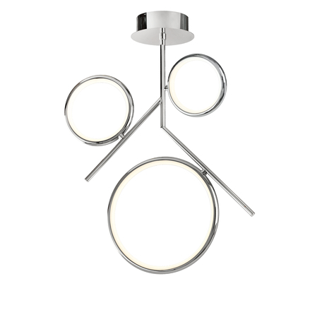 Потолочная люстра Mantra Olimpia 6591, хром, белый, металл, пластик - миниатюра 1