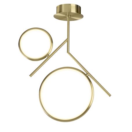 Потолочный светильник Mantra Olimpia 6582, матовое золото, белый, металл, пластик