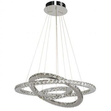 Подвесной светодиодный светильник MW-Light Гослар 498011903, LED 72W, хром, прозрачный, металл, хрусталь