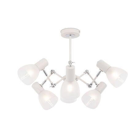Потолочная люстра с регулировкой направления света Freya AVERY FR5080PL-06W, 6xE14x40W, белый с хромом, белый, металл, стекло
