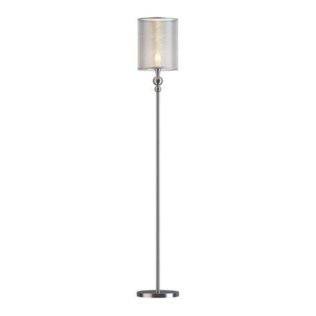 Торшер Freya Lauren FR5093FL-01CH, 1xE14x40W, хром, серебро, металл, текстиль