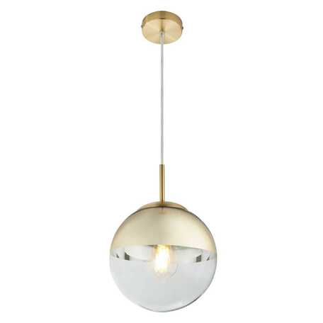 Подвесной светильник Toplight Glass TL1203H-21GD, 1xE27x40W, золото, золото с прозрачным, металл, стекло