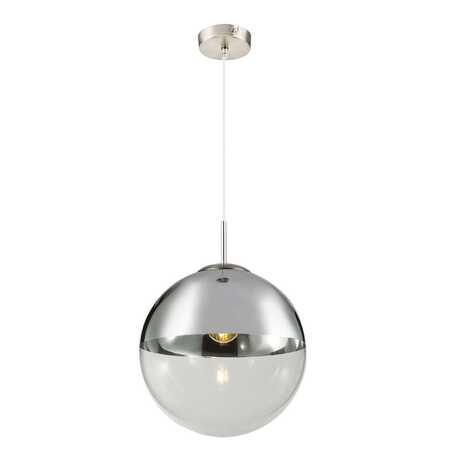Подвесной светильник Toplight Glass TL1203H-51CH, 1xE27x40W, никель, хром с прозрачным, металл, стекло