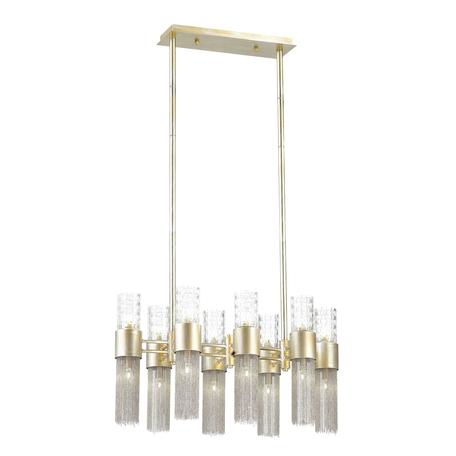 Люстра на составной штанге Odeon Light Perla 4631/16, 16xG9x40W, серебро, прозрачный, никель, металл, металл со стеклом