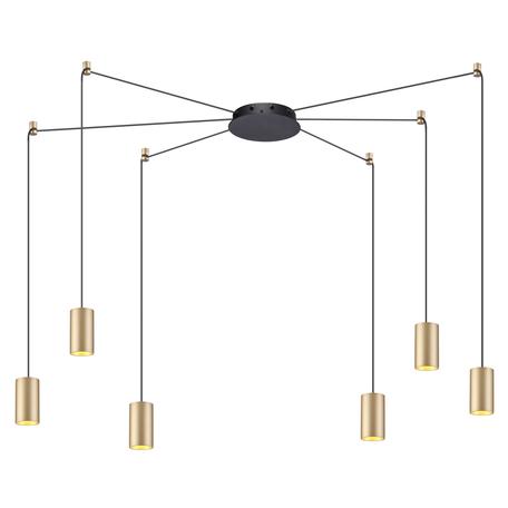 Люстра-паук Odeon Light L-Vision Lucas 3898/6, 6xGU10x50W, черный, матовое золото, металл