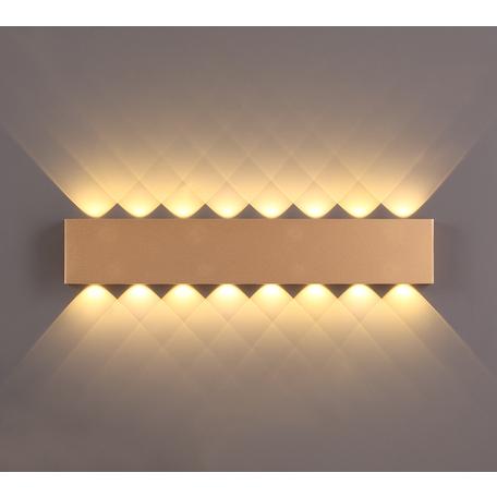 Настенный светодиодный светильник Odeon Light Hightech Magnum 3893/16WL, LED 16W 3000K 1275lm, матовое золото, металл