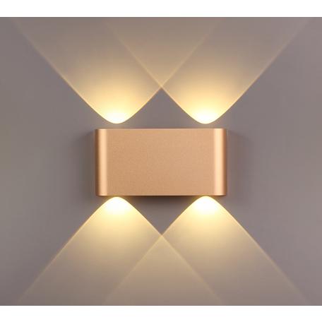 Настенный светодиодный светильник Odeon Light Hightech Magnum 3893/4WL, LED 4W 3000K 369lm, матовое золото, металл
