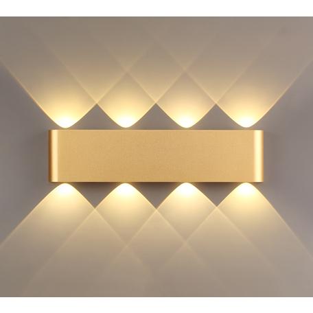 Настенный светодиодный светильник Odeon Light Hightech Magnum 3893/8WL, LED 8W 3000K 681lm, матовое золото, металл