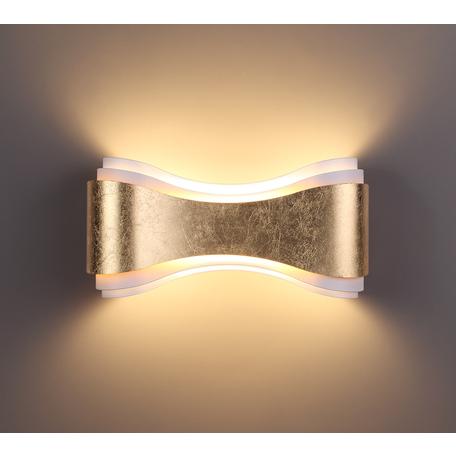 Настенный светодиодный светильник Odeon Light Hightech Farfi 3894/8WG, LED 8W 3000K 257lm, матовое золото, металл