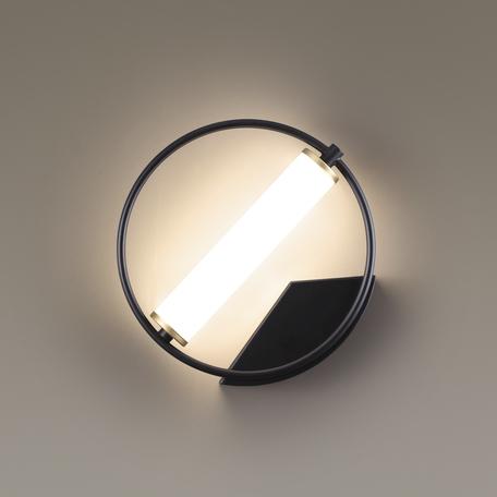 Настенный светодиодный светильник Odeon Light L-Vision Bebetta 3905/6WL, LED 6W 4000K 480lm, черный, металл, металл с пластиком