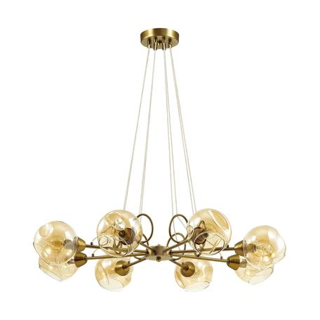 Подвесная люстра Lumion Amber 4435/8, 8xE14x40W, бронза, янтарь, металл, стекло