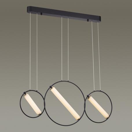 Подвесной светодиодный светильник Odeon Light Bebetta 3905/38L, LED 38W 4000K 3040lm, черный, металл, металл с пластиком