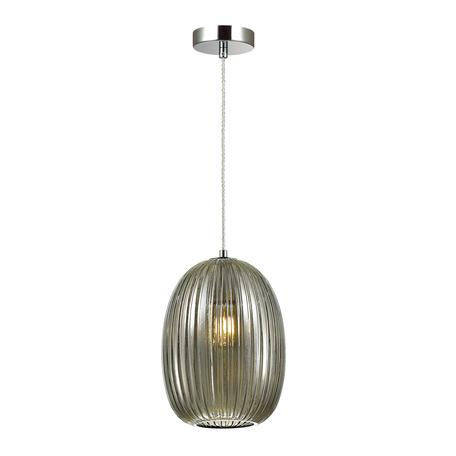 Подвесной светильник Odeon Light Pendant Dori 4702/1, 1xE27x60W, хром, дымчатый, металл, стекло