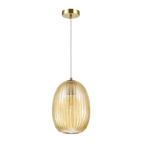 Подвесной светильник Odeon Light Pendant Dori 4704/1, 1xE27x60W, бронза, янтарь, металл, стекло