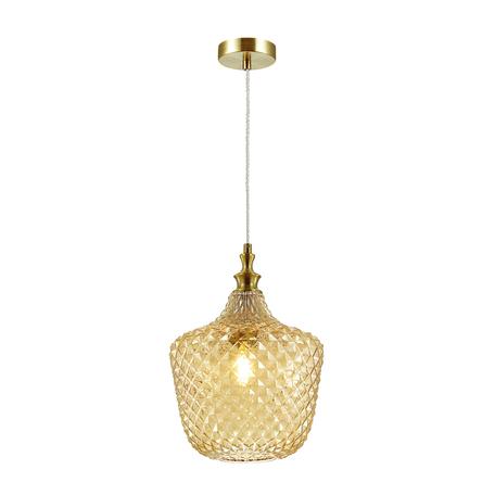 Подвесной светильник Odeon Light Pendant Vita 4705/1, 1xE27x60W, бронза, янтарь, металл, стекло