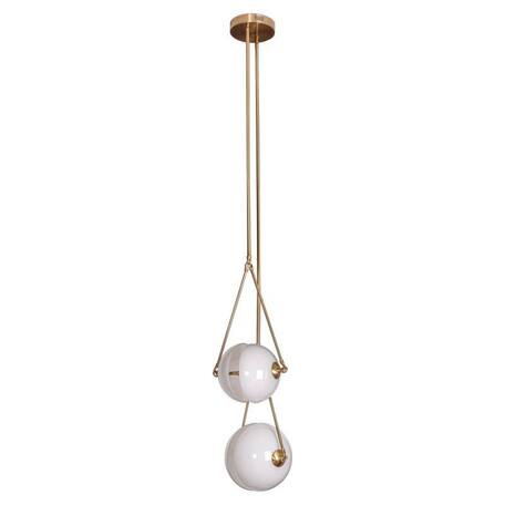 Потолочный светильник L'Arte Luce Luxury Io L27462, 2xG4x2W, металл, стекло