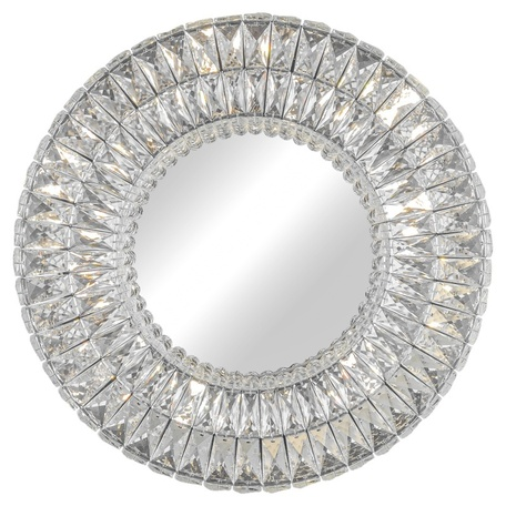 Зеркало с подсветкой L'Arte Luce Luxury Spiridon L27726, 21xG4x25W, стекло, хрусталь