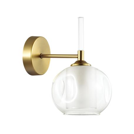 Бра Lumion Hazel 4432/1W, 1xE14x40W, матовое золото, белый, металл, стекло