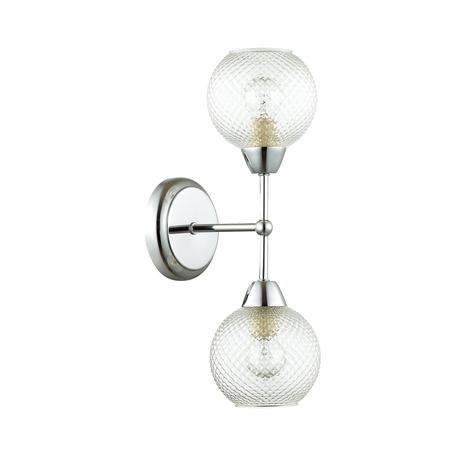 Бра Lumion Everly 4438/2W, 2xE14x40W, матовый хром, прозрачный, металл, стекло