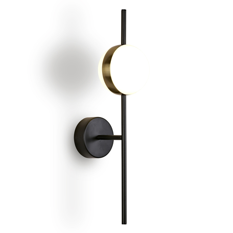 Светодиодное бра Mantra Cuba 7163, LED 8W 3000K 600lm CRI80, черный, матовое золото, белый, металл, пластик