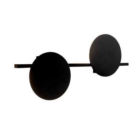 Настенный светодиодный светильник Mantra Eris 7299, LED 16W 3000K 1280lm CRI80, черный, металл