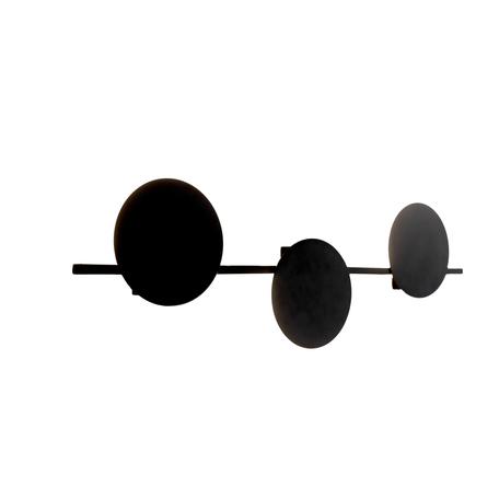 Настенный светодиодный светильник Mantra Eris 7301, LED 24W 3000K 1920lm CRI80, черный, металл
