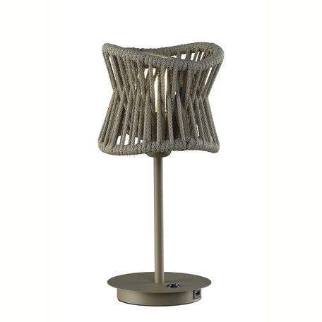 Настольная лампа Mantra Polinesia 7134, 1xE27x20W, коричневый, металл, текстиль