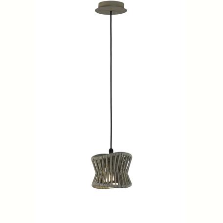 Подвесной светильник Mantra Polinesia 7132, IP44, 1xE27x20W, коричневый, металл, текстиль