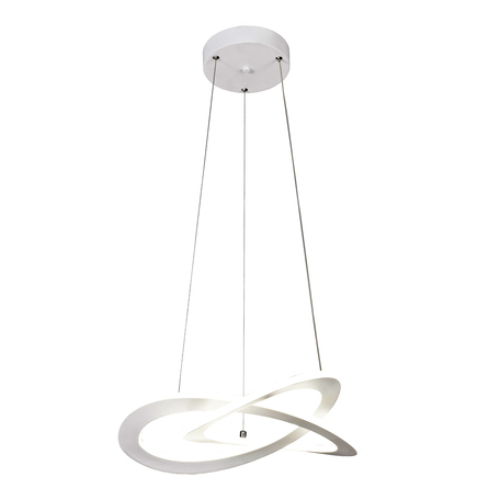 Подвесной светодиодный светильник Mantra Planet 7150, LED 40W 3000K 1800lm CRI80, белый, металл, металл с пластиком