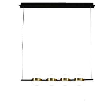 Подвесной светодиодный светильник Mantra Cuba 7161, LED 32W 3000K 2400lm CRI80, черный, матовое золото, белый, металл, пластик