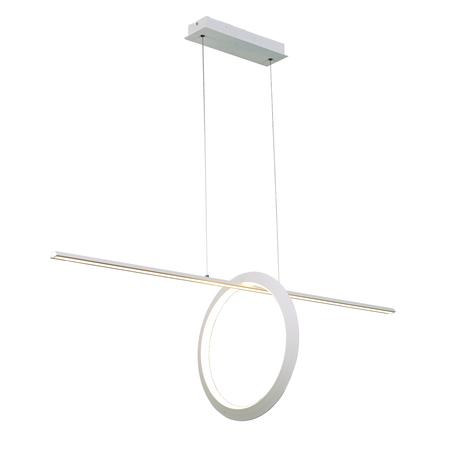 Подвесной светодиодный светильник Mantra Kitesurf 7193, LED 30W 3000K 2400lm CRI80, белый, металл, металл с пластиком