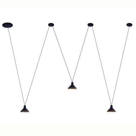 Подвесной светодиодный светильник Mantra Antares 7311, LED 24W 3000K 1770lm CRI80, черный, металл, металл с пластиком