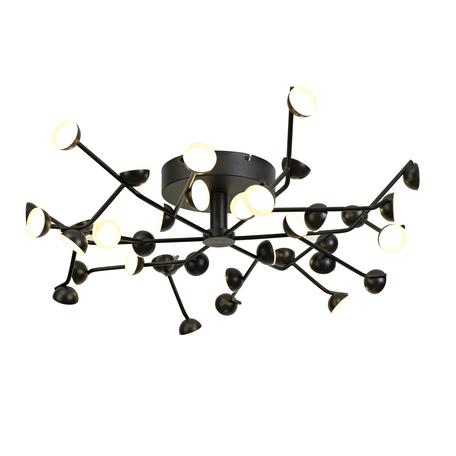 Потолочная светодиодная люстра Mantra ADN 6422, LED 100W 3000K 4580lm CRI80, черный, металл