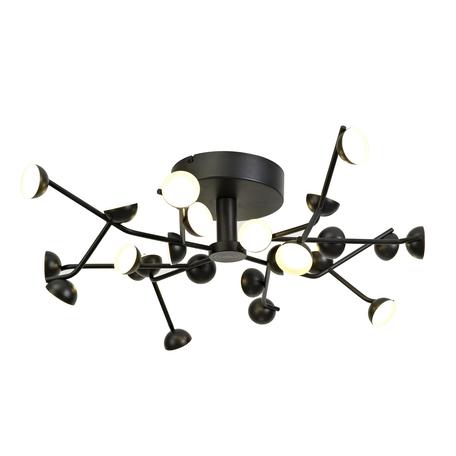 Потолочная светодиодная люстра Mantra ADN 6423, LED 72W 3000K 3300lm CRI80, черный, металл