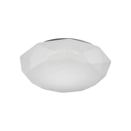 Потолочный светодиодный светильник Mantra Diamante Smart 5974, LED 56W 3000-5000K 4000lm CRI80, серебро, белый, металл, пластик