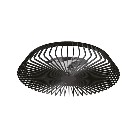 Потолочный светодиодный светильник-вентилятор с пультом ДУ Mantra Himalaya 7121, LED 70W 2700-5000K 4900lm CRI80, черный, металл