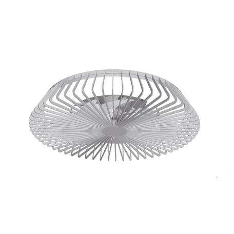 Потолочный светодиодный светильник-вентилятор с пультом ДУ Mantra Himalaya 7122, LED 70W 2700-5000K 4900lm CRI80, серебро, металл