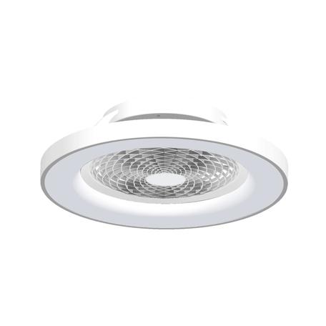 Потолочный светодиодный светильник-вентилятор с пультом ДУ Mantra Tibet 7123, LED 70W 2700-5000K 3900lm CRI80, белый, металл, металл с пластиком