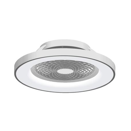 Потолочный светодиодный светильник-вентилятор с пультом ДУ Mantra Tibet 7125, LED 70W 2700-5000K 3900lm CRI80, серебро, металл, металл с пластиком